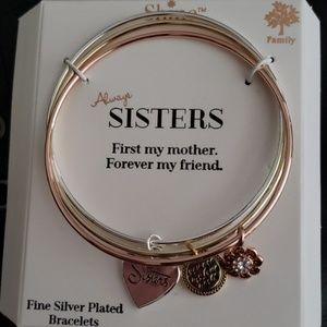 SHINE tri color bangle bracelet.
